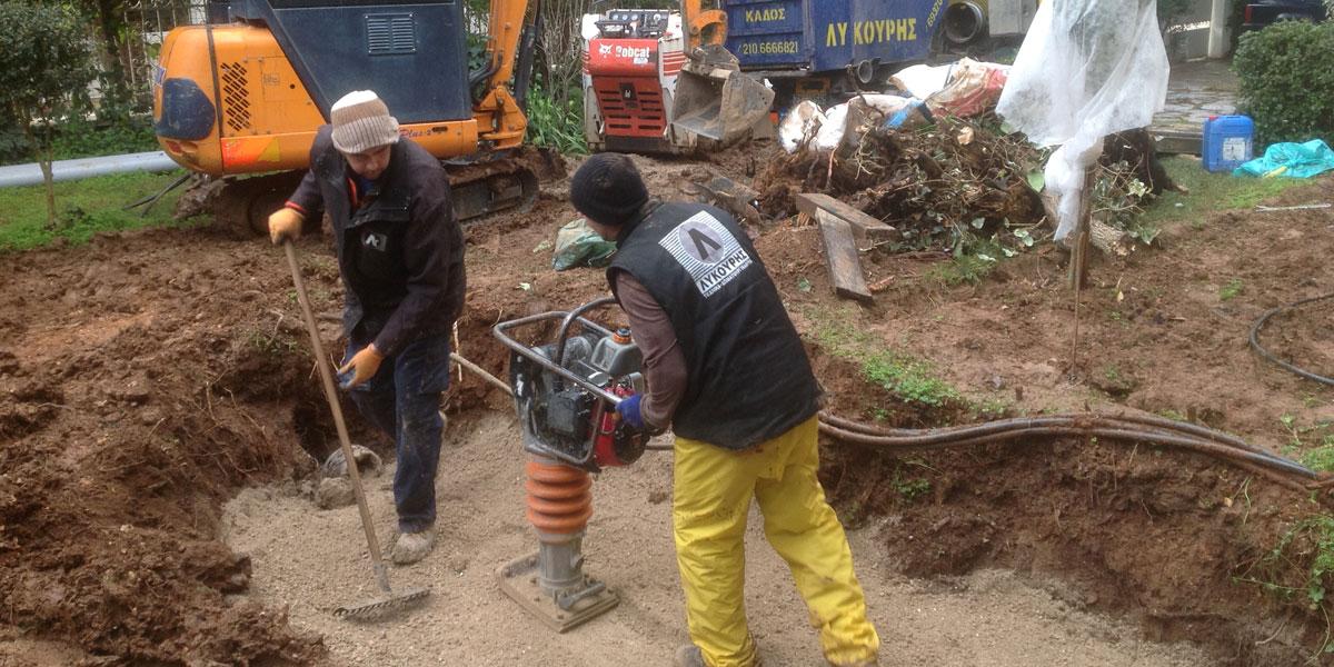 Ειδικά χωματουργικά μηχανήματα και μηχανήματα συμπύκνωσης εδάφους