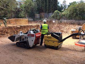Συμπύκνωση εδάφους πριν τη θεμελίωση νέας οικοδομής