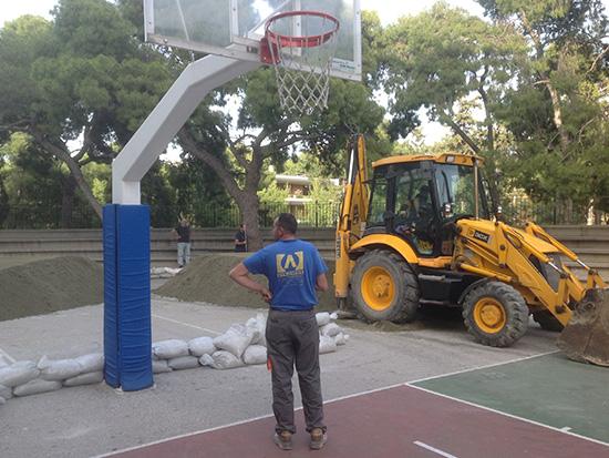 Κατασκευή προσωρινού Beach Volley και προμήθεια ποταμίσιας άμμου